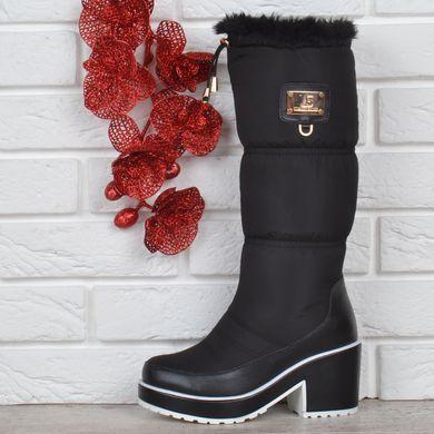 Купить Сапоги женские дутики на каблуке Prima d Arte US высокие черные  фото, в ... 599a4df465d