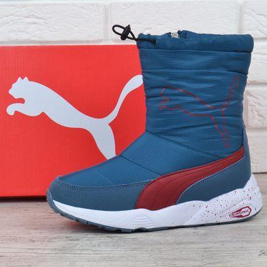 КупитиДутики жіночі зимові чоботи Puma Trinomic яскраво-сині з червоним з  кулісою фото e53698d5d8431