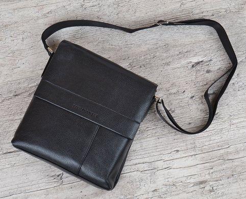 5ae540d083bf Купить Сумка планшет мужская с наплечным ремнем черная кожаный клапан  Master фото, в интернет- ...