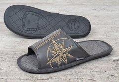 391325d0fbc59 Купить Тапочки домашние мужские серые Adventures фото, в интернет-магазине  обуви Nanogu.com