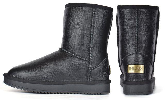 7a660d11e12c93 КупитиУггі шкіряні жіночі зимові чоботи чорні Leather boots фото, в  інтернет-магазині взуття Nanogu ...