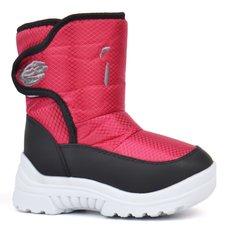 КупитиДутики на дівчинку сноубутси Warm Waterproof зимові рожеві на липучці  фото c1ace8e883b60