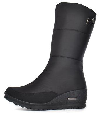 КупитиДутики жіночі низькі зимові чоботи чорні Classic на танкетці фото ca57bd408f3f5