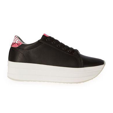 a7c159b22 Купить Кроссовки женские на платформе атласные черные Kylie Crazy фото, в  интернет-магазине обуви ...