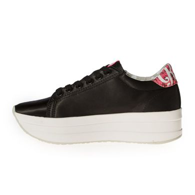 a9a52a8b9 ... Купить Кроссовки женские на платформе атласные черные Kylie Crazy фото,  в интернет-магазине обуви ...