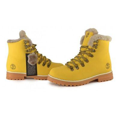 b34bac605 Купить Ботинки женские кожаные на цигейке Timberland 6 inch Yellow Winter  фото, в интернет- ...