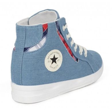 ... Купить Кеды слипоны женские светлый джинс «Converse Blue» фото, в  интернет-магазине ... 75b50715aa8