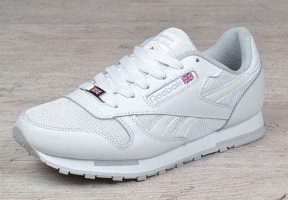 7f2d2c957bcbc3 Купить Кроссовки мужские кожаные Reebok Classic Leather white сетчатые  белые фото, в интернет-магазине ...