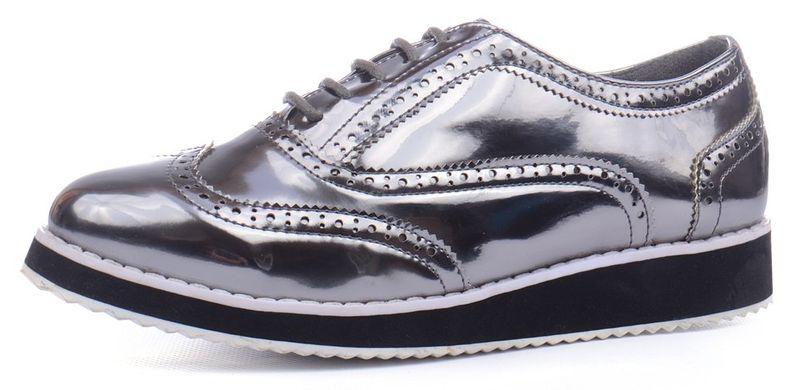 ᐉ Купити Туфлі оксфорди жіночі Todzi металік на шнурівці – в ... a61cbb802ab98