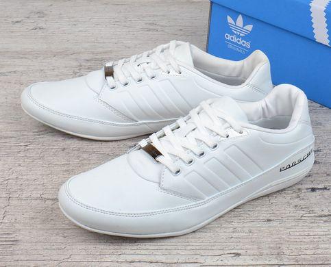 4ba03d18 Купить Кроссовки мужские кожаные летние белые Adidas Porshe Design S3 white  Вьетнам фото, в интернет ...