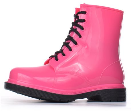 5018b252e Купить Резиновые ботинки женские завышенные розовые на шнуровке Pink Star  фото, в интернет-магазине ...