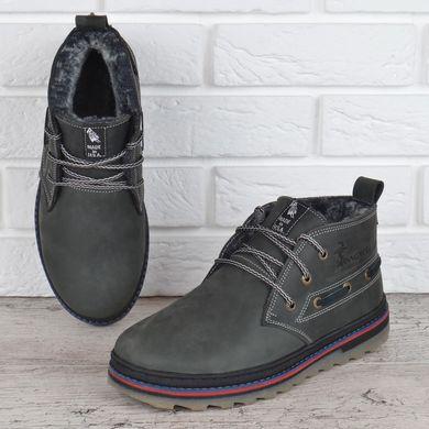 fbd9bb1b447458 КупитиЧеревики чоловічі зимові шкіряні Montana serious grey натуральне  хутро фото, в інтернет-магазині взуття ...