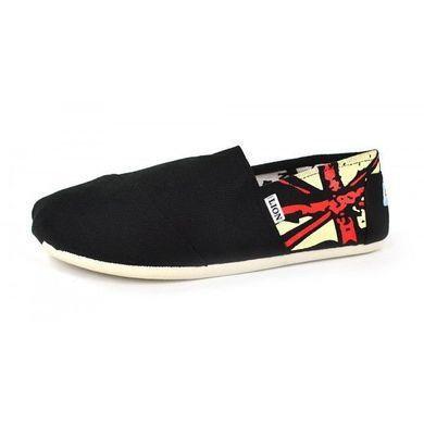 f97104b838a5f2 КупитиКеди еспадрільї чоловічі чорні з британським прапором фото, в інтернет -магазині взуття Nanogu.