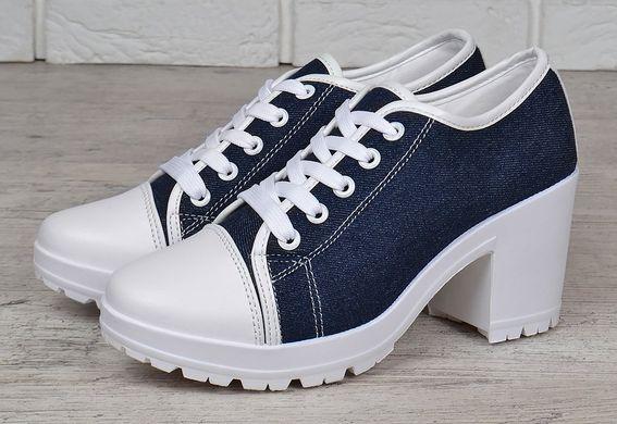 ee8689694 Купить Туфли женские джинс на широком каблуке Miu Miu style фото, в  интернет-магазине ...