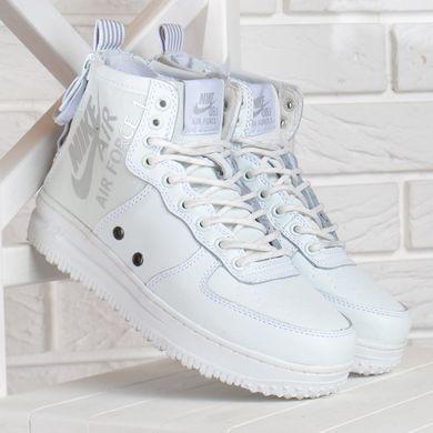 10ff9387 Купить Кроссовки женские кожаные Nike Air Force 1 белые на платформе  Индонезия фото, в интернет ...