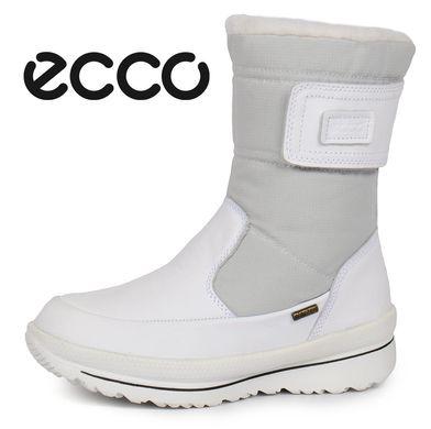 КупитиЧоботи жіночі зимові шкіряні Ecco Gore-Tex Terra White білі фото 967ae94ff88b4