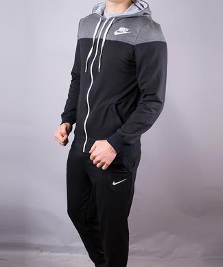 КупитиСпортивний костюм чоловічий Nike чорний на блискавці з капюшоном  фото dc858209b2dca