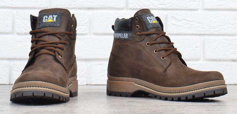 f75b3f164b336d ... КупитиЧеревики чоловічі шкіряні зимові CAT Caterpillar brown натуральне  хутро фото, в інтернет-магазині взуття ...
