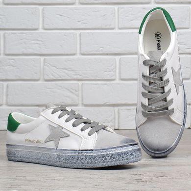 ᐉ Купити Кеди жіночі замша Prima d Arte білі з зеленим – в інтернет ... 76c285df58d1b