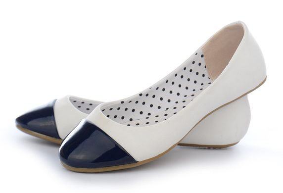 ᐉ Купити Балетки на дівчинку білі з синім Let s casual Польща – в ... 6158b0680b22d