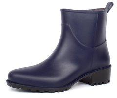 4d2f414d4 Купить Резиновые ботильоны на каблуке Rain Angel темно-синие фото, в  интернет-магазине