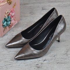 652cc0e61 Купить Туфли лодочки женские на каблуке шпильке металлик Fabio Monelli  Vogue фото, в интернет-
