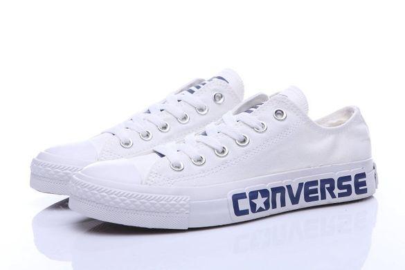 КупитиКеди Converse All Star Chuck Taylor II білі з синім написом фото 5687a35a0836e