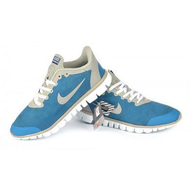 7fc54ab3 ... Купить Кроссовки мужские синие Nike Free Run 3.0 на гибкой белой  подошве фото, в интернет ...