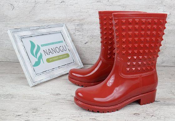 Гумові чоботи жіночі червоні з шипами Valentino 399 грн. Гумові ... 31bb545eebd1b