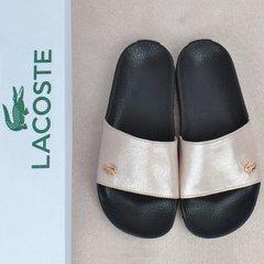 20d0045d4 Купить Шлепанцы женские кожаные Lacoste пудра розовые фото, в  интернет-магазине обуви Nanogu.