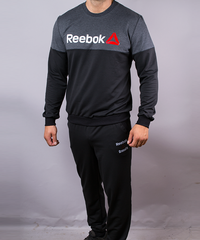 8c69705b79ec9f КупитиСпортивний чоловічий костюм Reebok чорний антрацит на манжетах фото,  в інтернет-магазині взуття Nanogu