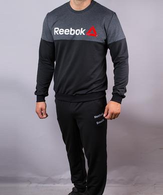 8ce146a7 Купить Спортивный мужской костюм Reebok черный антрацит на манжетах фото, в  интернет-магазине обуви ...