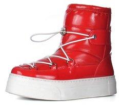 КупитиДутики жіночі зимові чоботи на платформі червоні Red winter boots  фото c20cef6913d26