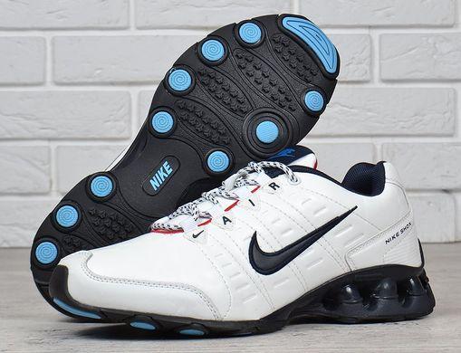 01664623 Купить Кроссовки мужские кожаные Nike Air Shox running белые фото, в  интернет-магазине обуви ...