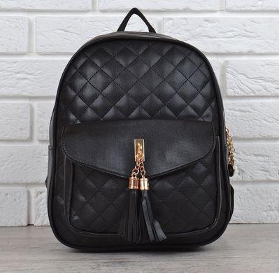 04a7e946fb0c КупитиРюкзак жіночий міні чорний з бахромою Jungle фото, в  інтернет-магазині взуття Nanogu.