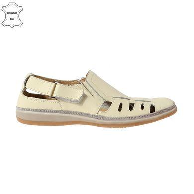 84e76b6b80d74d КупитиТуфлі чоловічі літні шкіряні бежеві 4Rest USA на липучках фото, в  інтернет-магазині взуття ...