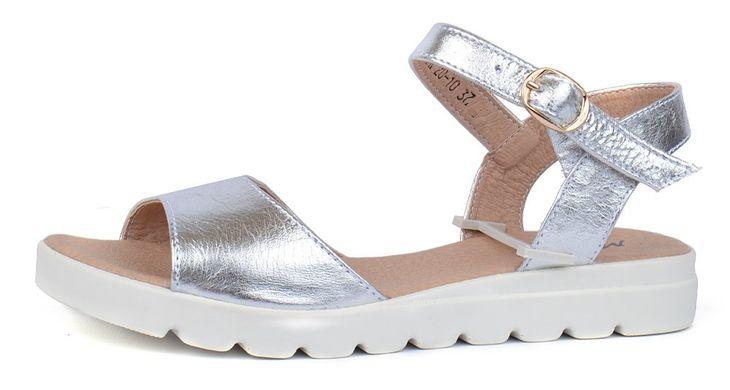 f7eaab9ba0ee Босоножки женские кожаные серебро на платформе Great Shoes