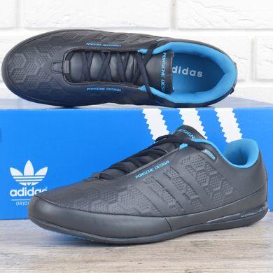 4baeec96d3e313 КупитиКросівки чоловічі шкіряні Adidas Porsche Design сірі з синім фото, в  інтернет-магазині взуття ...