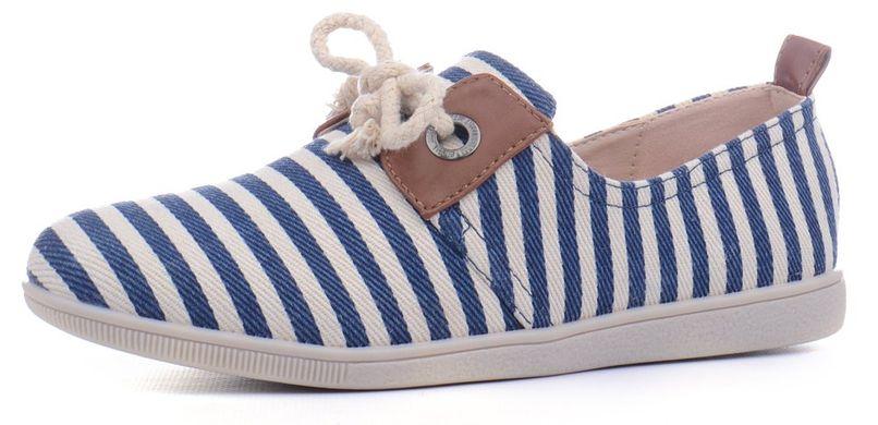 ᐉ Купить Кеды мокасины женские Marine на шнуровке сине бежевые – в ... 13cc16b7f80e9