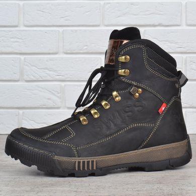 Купить Ботинки мужские зимние кожаные Swiss Andermatt черные фото, в  интернет-магазине обуви Nanogu ... a47e9df5e2c