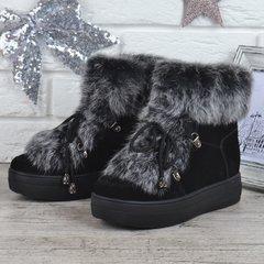 Купити. КупитиЧеревики жіночі зимові замшеві натуральне хутро на платформі  Rosso опушка кролик фото aeb7e71a880c6