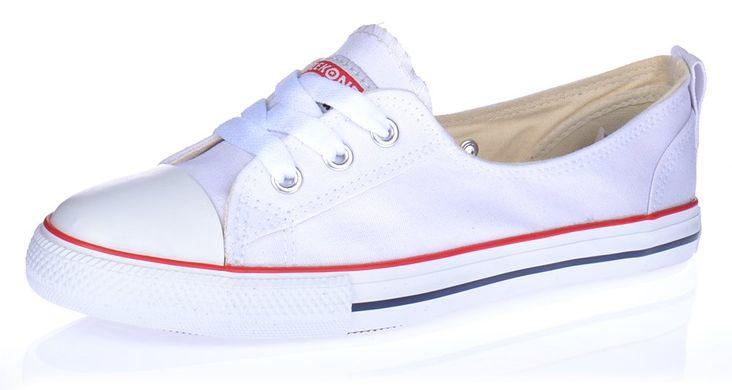 88fb3c74 Купить Кеды белые слипоны Meekone East star на шнуровке фото, в  интернет-магазине обуви ...