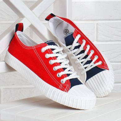842d9b73c07551 КупитиКеди жіночі на платформі текстильні Tommy червоні білі сині фото, в  інтернет-магазині взуття ...