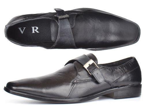 Купить Мужские кожаные туфли классические черные Zapaterias VR фото, в  интернет-магазине обуви Nanogu ... 5c721e9705e