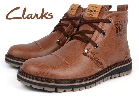 ᐉ Купить Ботинки мужские кожаные зимние Clarks Urban Tribe brown ... d1986b9c0995a