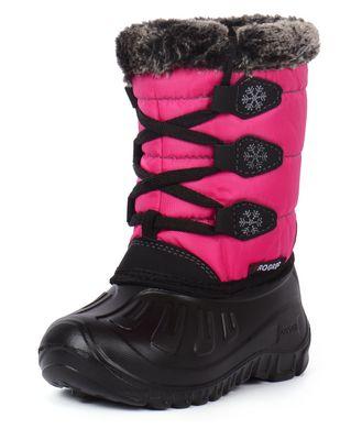 ᐉ Купити Чоботи зимові на дівчинку малинові сноубутси Princess – в ... 5e59d61da80c3