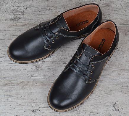 ᐉ Купити Туфлі чоловічі шкіряні Ecco чорні на шнурівці – в інтернет ... 828ca20dae435