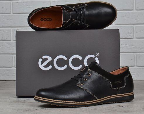 7ce2cc40d0e247 КупитиТуфлі чоловічі шкіряні Ecco чорні на шнурівці фото, в  інтернет-магазині взуття Nanogu.