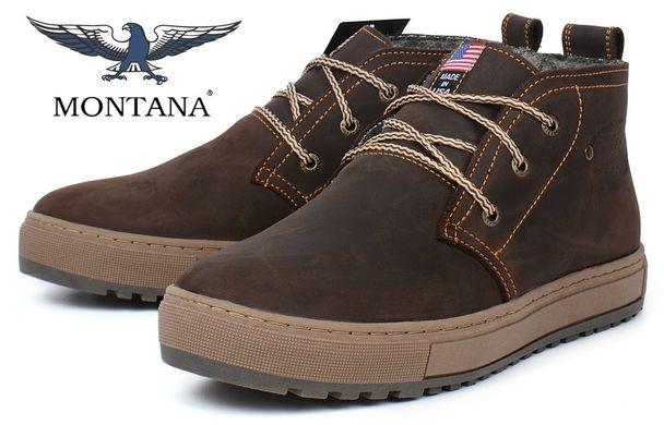 Купить Ботинки мужские зимние кожаные Montana casual brown на меху фото, в  интернет-магазине ... 9d309c12e45