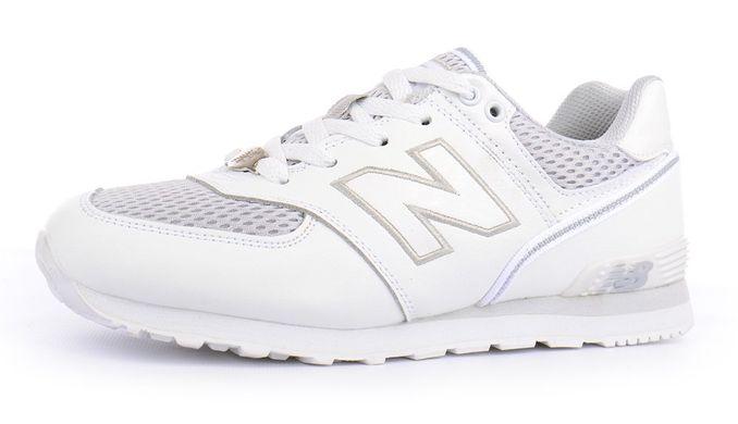 ᐉ Купити Кросівки жіночі шкіряні New Balance 574 білі – в інтернет ... ccc412511f98d